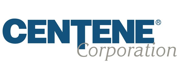 CENTENE Corporation Blue and grey lettering