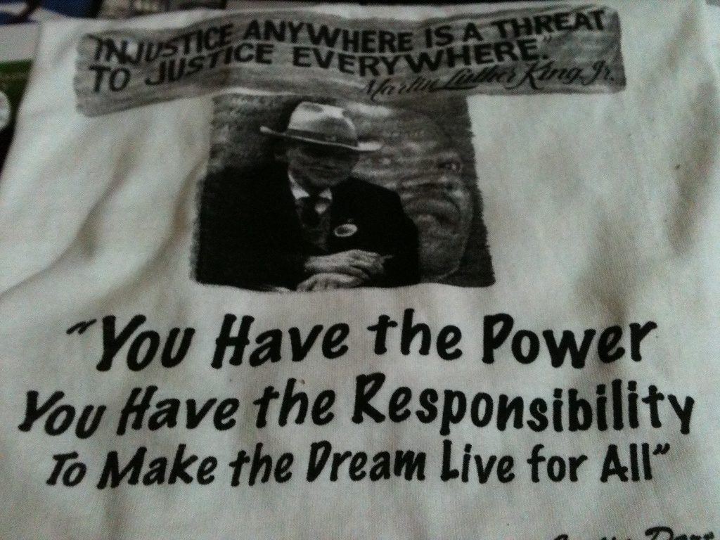 Justin Dart - Dr. King TShirt 20 contribution includes shippipng
