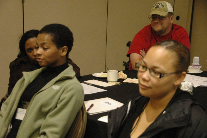 Work shop group listening